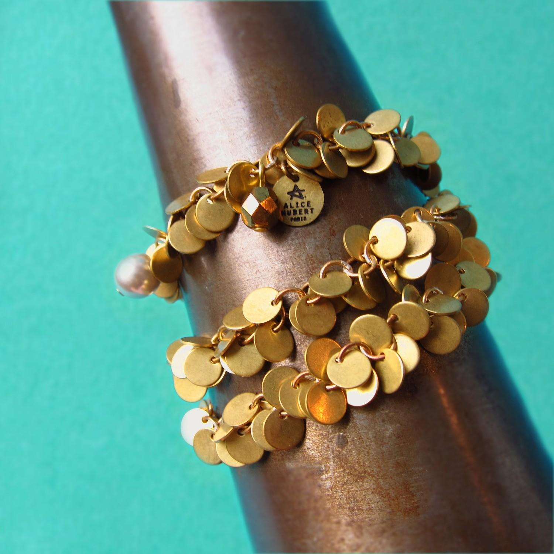 Bracelet Paillettes Triple