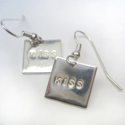Boucles d'oreille Kiss - Argent