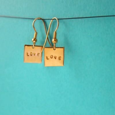 Boucles d'oreille Love - Or