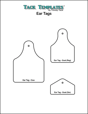 photo relating to Printable Cow Ears identify Ear Tag Types **PDF**