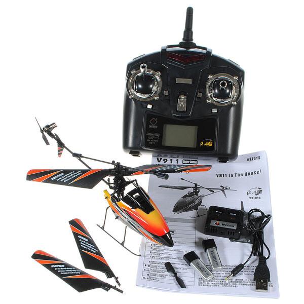 nu kopen uitstekende kwaliteit uk goedkope verkoop WLtoys V911 2.4GHz 4CH Remote Control RC Helicopter with Gyro Mode