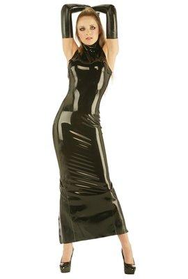 23b333fe6f Latex Rubber Mermaid Dress with Full Length Back Zip