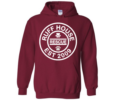 RHR Circle Logo Unisex Hoodie in Black or Crimson