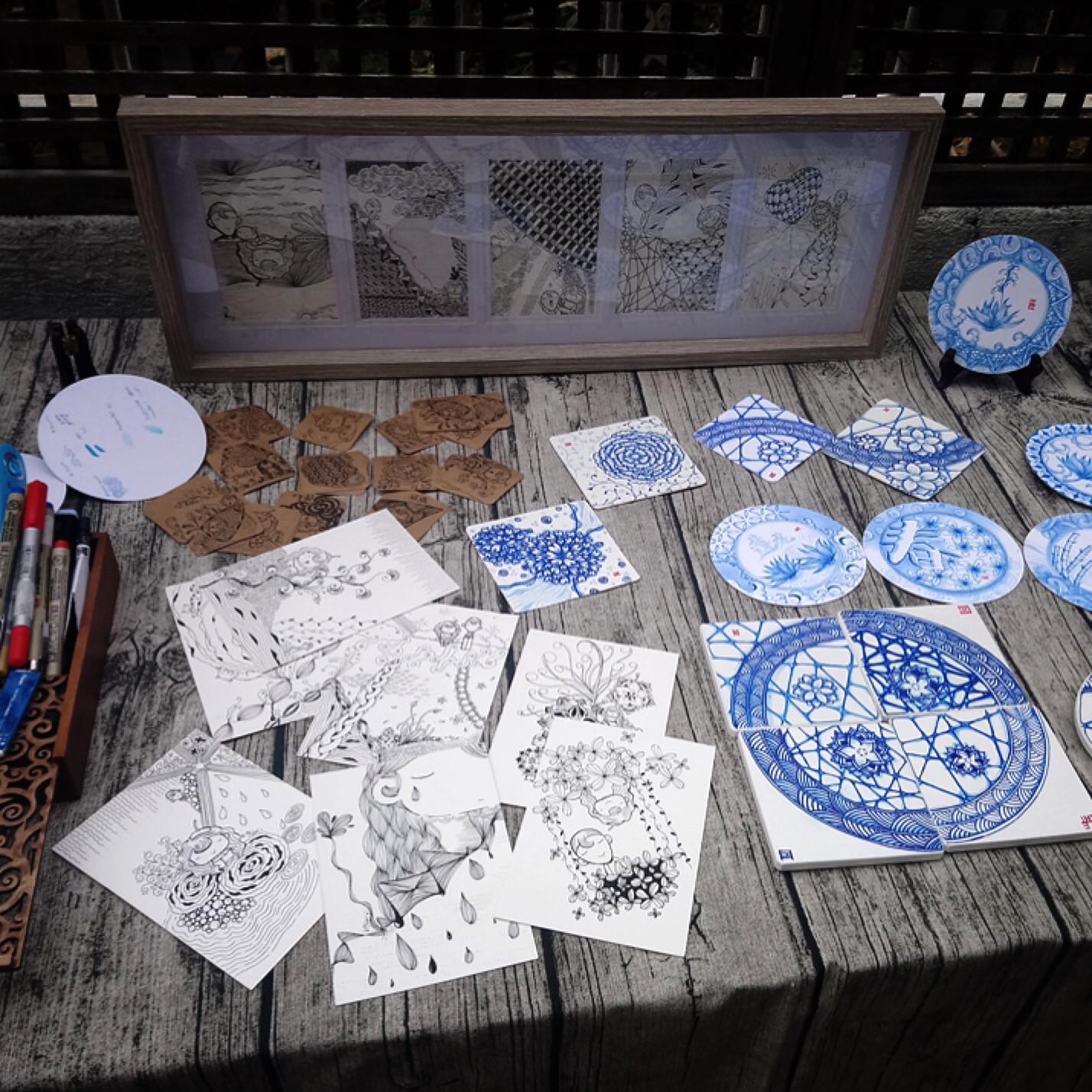 活着如初狂熱集合日-禪繞青花瓷 Blue & White 工作坊