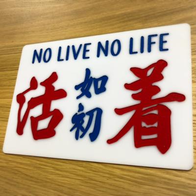 捐款者加購一個「活着如初」小巴牌中牌