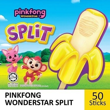 PINKFONG Wonderstar Split Frozen Confection (50 Sticks)