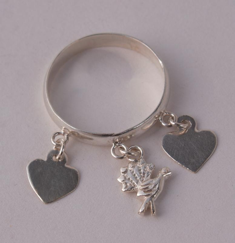 Silver Ring Hearts & Turkey