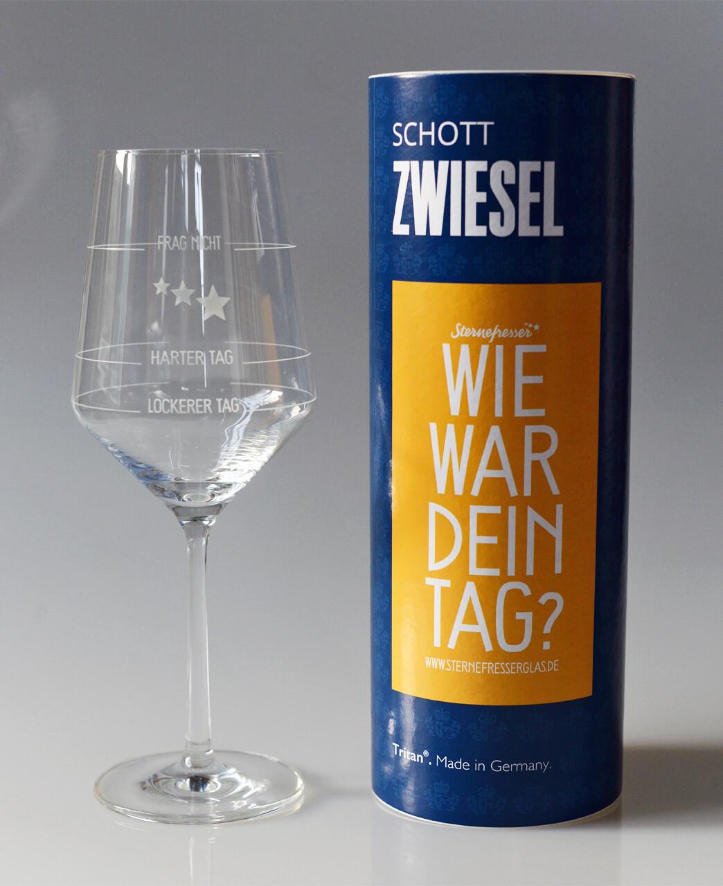 Wie war Dein Tag-Weinglas (1 Stück, Geschenkverpackung)