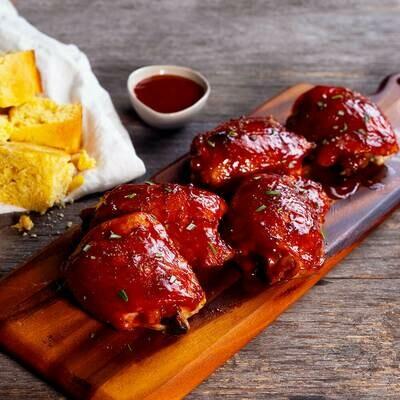 BBQ Chicken Thighs uncooked