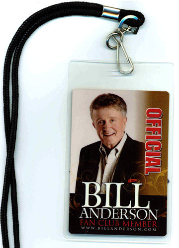 Bill Anderson Fan Club Laminate
