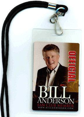 Bill Anderson Fan Club Laminate