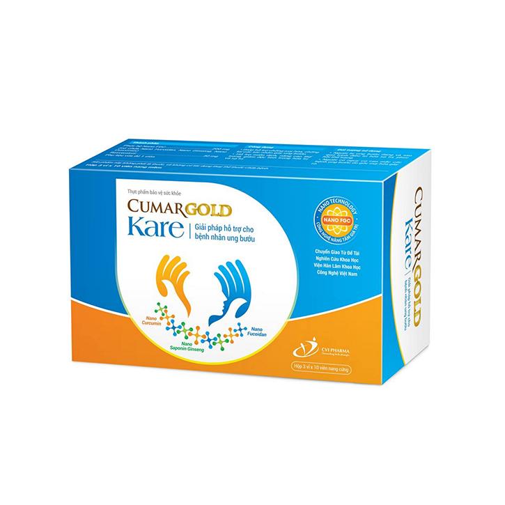 CUMARGOLD KARE - Giải pháp hỗ trợ cho bệnh nhân ung bướu - Nâng cao thể trạng, giảm tác dụng phụ hóa xạ trị