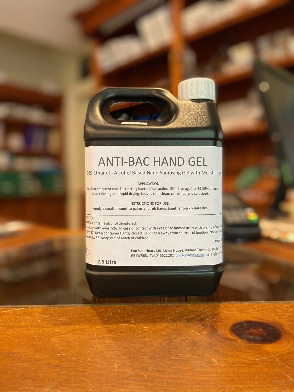 Antibacterial Hand Gel and Sanitiser 2.5 Litre
