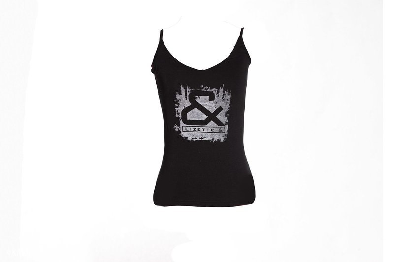 Girls tank top with silver print