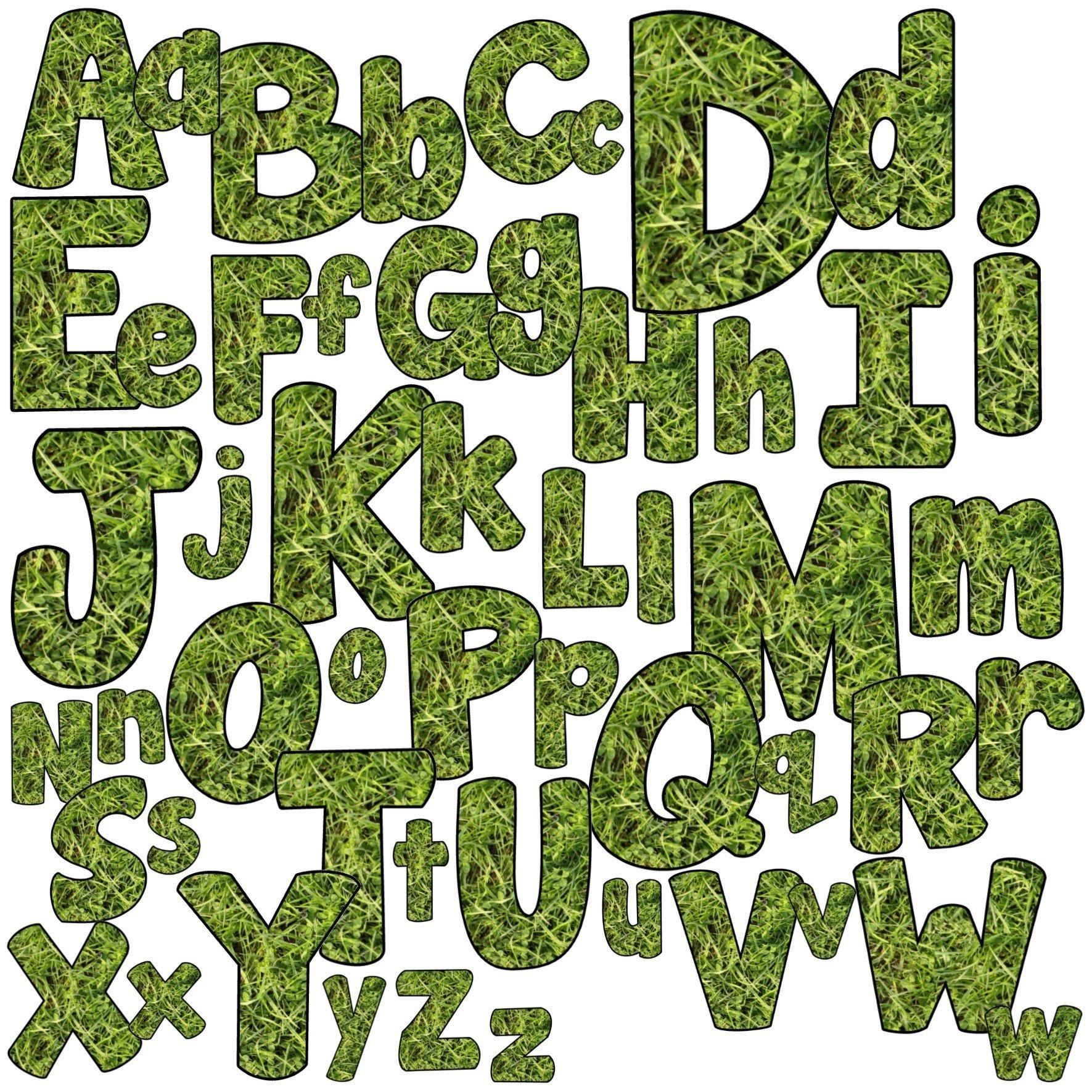 Grass Alphabet Clip Art