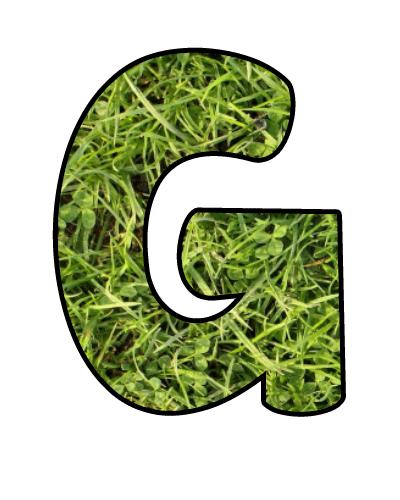 Grass Alphabet Clip Art letter G