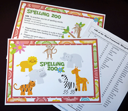 Spelling Zoo Literacy Game