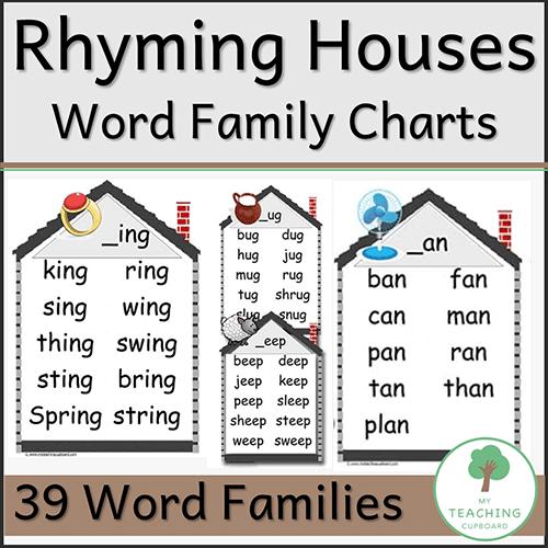39 Rhyming Word Family Charts 00065