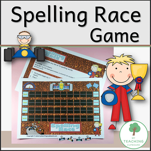 Spelling Race Literacy Game 00033