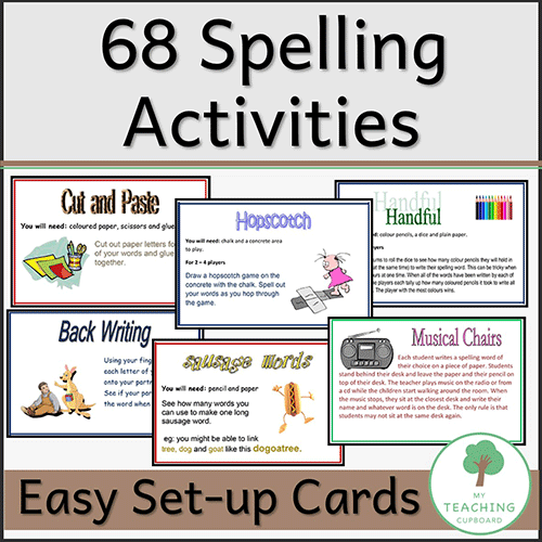 68 Spelling Activity Cards 00030