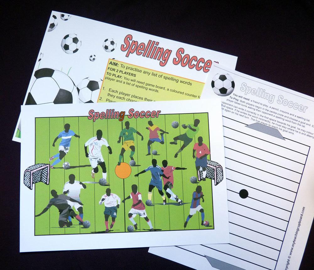 Soccer Spelling Game