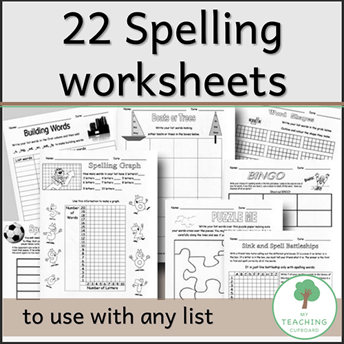 22 Reproducible Spelling Worksheets 00031