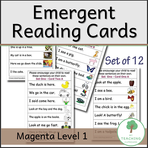 Reading Cards Magenta Level One 00064