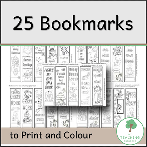 25 Bookmarks to Print & Colour 00044
