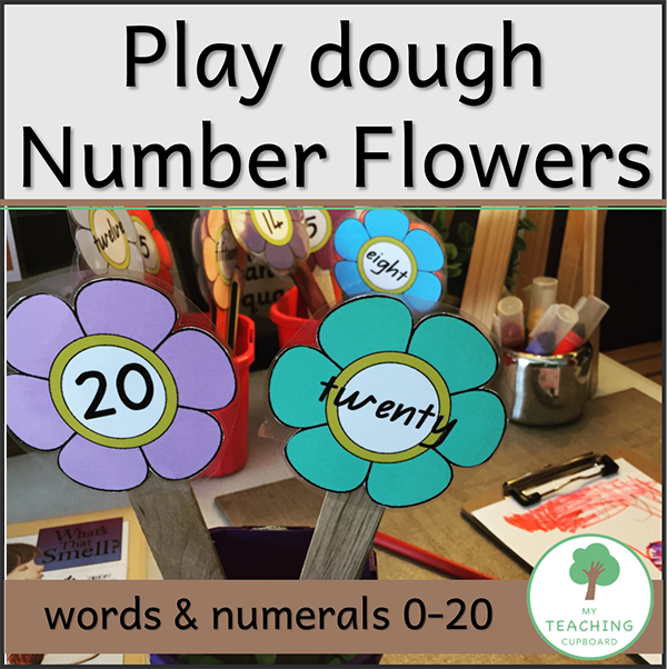 Play dough Number Flowers 00076