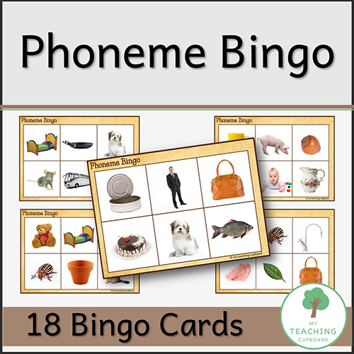 Phoneme Bingo for Teaching Phonemic Awareness 00077