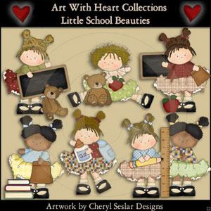 Little School Beauties Clipart Download 00060