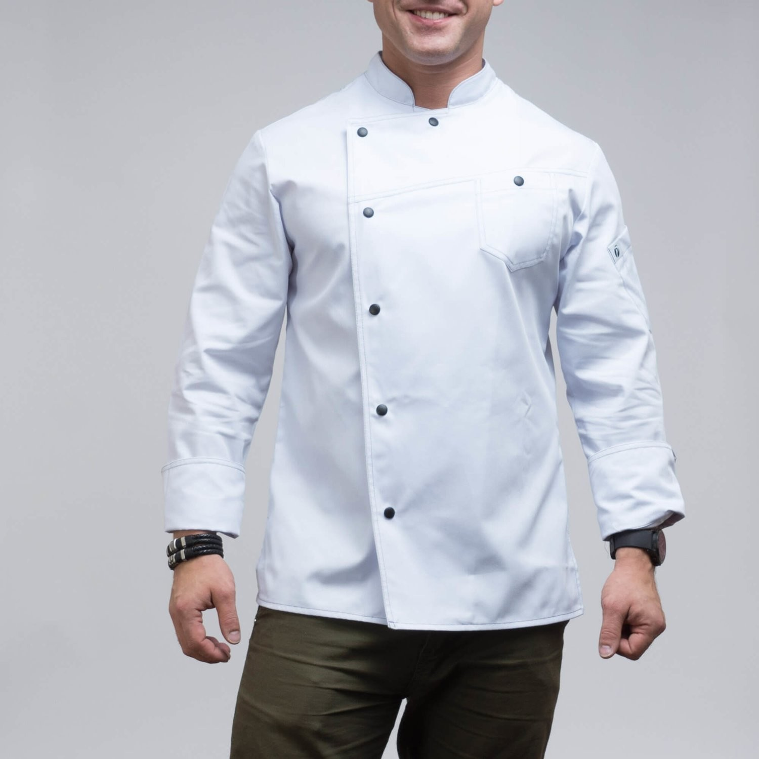 140WHITE - CHEF'S JACKET
