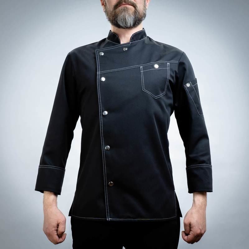 140BLACK2 - CHEF'S JACKET