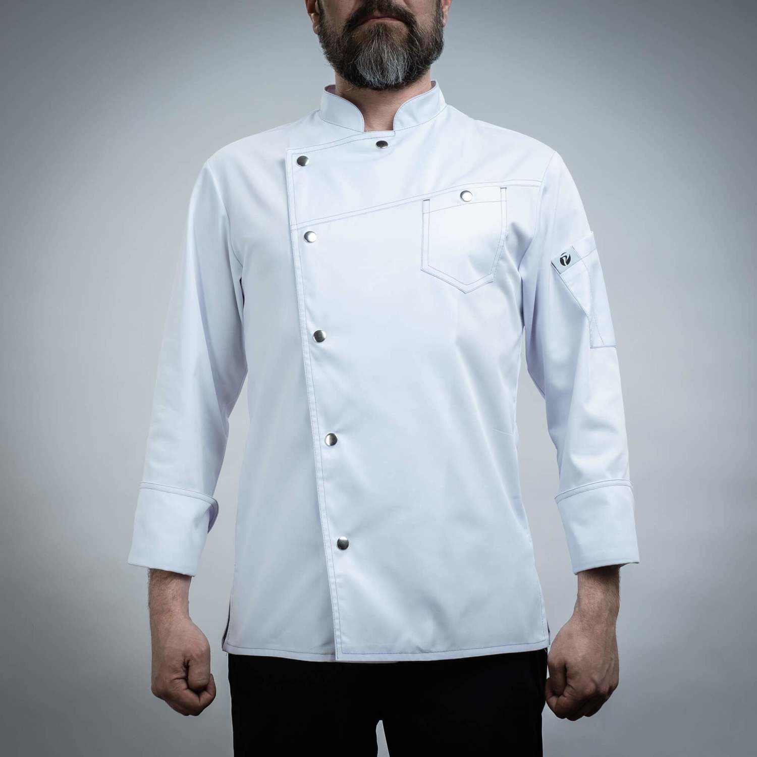 140WHITE2 - CHEF'S JACKET