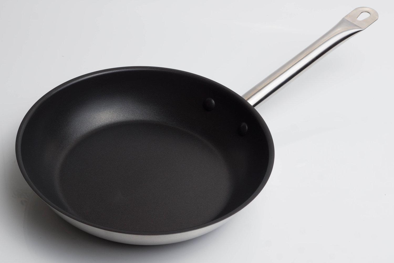 152400N-Сковорода d=24 h=4.5 нерж.сталь с антипригарным покрытием