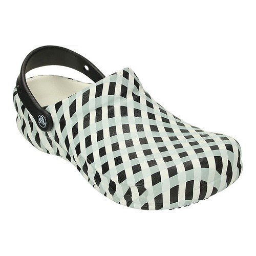 Bistro gingham clog white - САБО