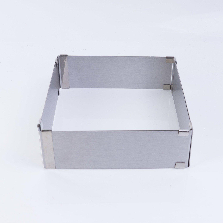 Квадратная форма для выпечки с регулируемым размером, 16-30cm