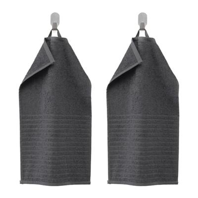 ВОГШЁН Полотенце, темно-серый/2 шт. 30x50 см