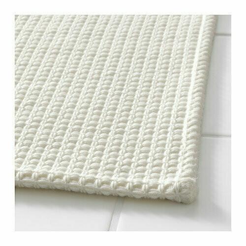 СЮЗЕОН коврик для ванной, белый, 90*60см
