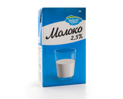 """Молоко """"Чудское озеро"""" ультрапастеризованное маложирное 2,5%, 1 литр"""
