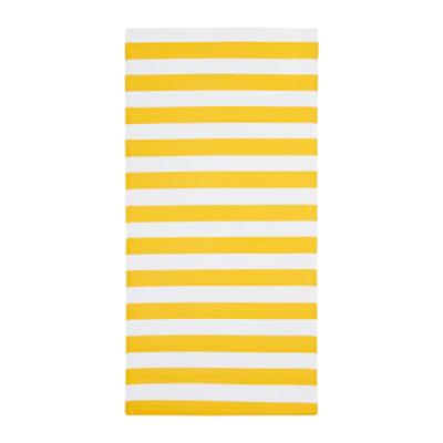 СОММАР 2019 Ковер безворсовый, желтый/белый для дома/улицы, желтый/белый  75x150