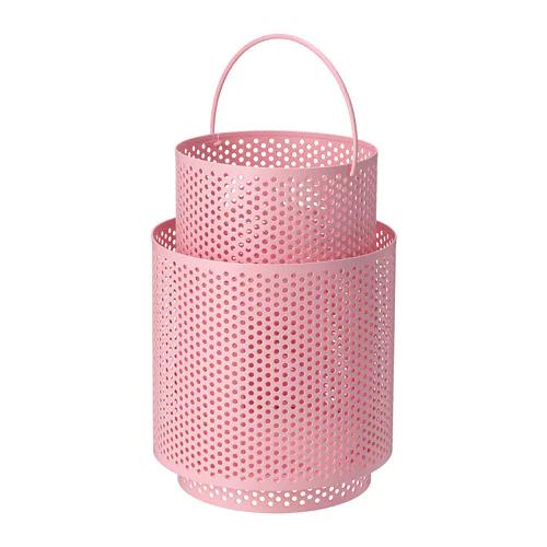 БЕГЕРСКА Фонарь для формовой свечи, розовый      26 см