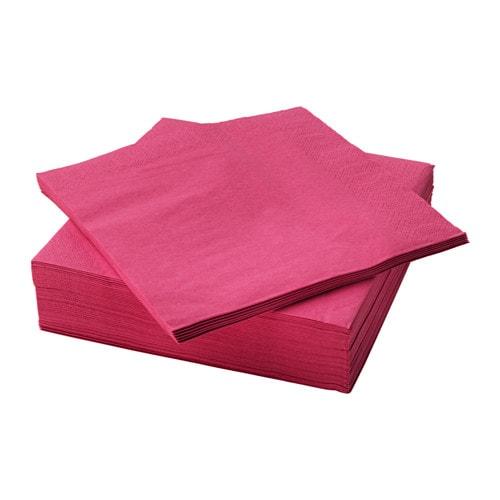 ФАНТАСТИСК Салфетка бумажная, малиновый  40x40 см 50 шт
