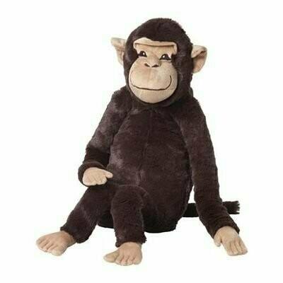 Мягкая игрушка, ВРОЛАПА, обезьяна, коричневый