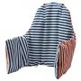 ПЮТТИГ Поддерживающая подушка и чехол, красный, синий