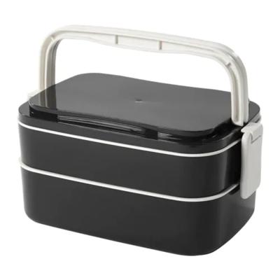 ФЛОТТИГ Контейнер для завтрака, черный, белый 21x13x10 см