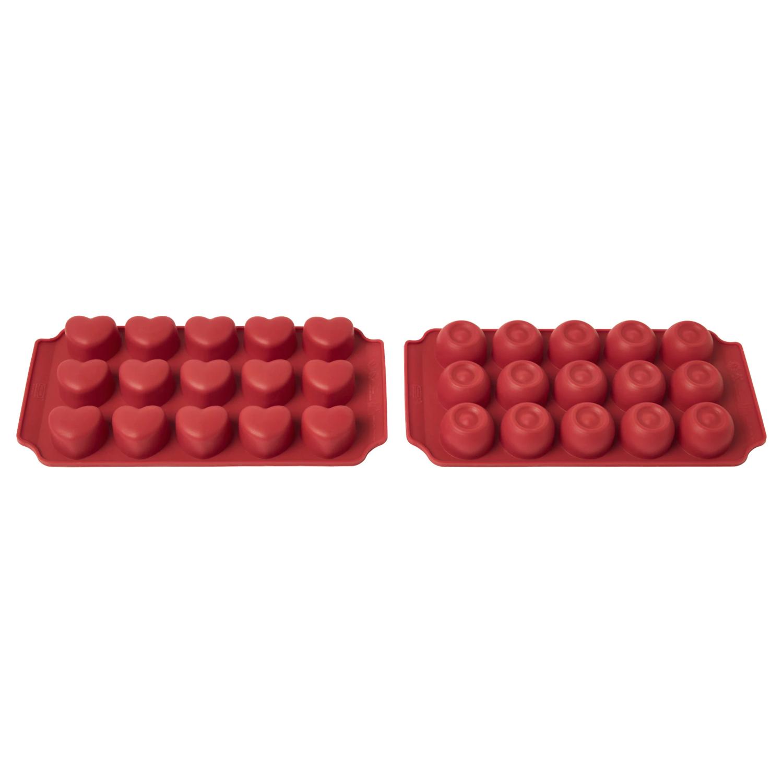 Формочка для шоколада БАКГЛАД 22x11x2 см силикон красный