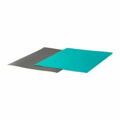 ФИНФОРДЕЛА, Гибкая разделочная доска, темно-серый, темная бирюза, 2 шт, 28x36 см