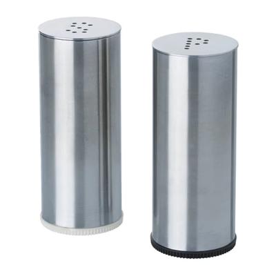 ПЛАТС Солонка/перечница, 2 штуки, нержавеющая сталь