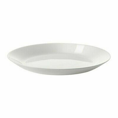 ОФТАСТ тарелка десертная, белый 19 см